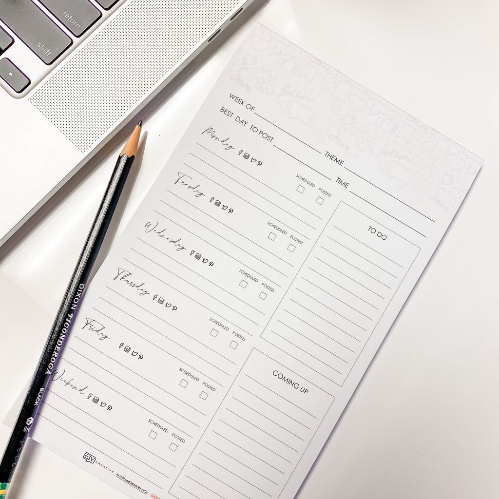 Social Strategy Weekly Planner - ESV Creative