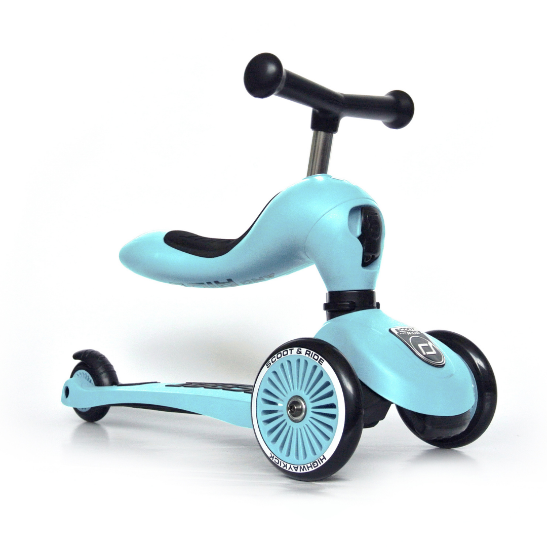 Image of Scoot & Ride 2 i 1 løbecykel/løbehjul, blueberry (Scoot&ride-96352)