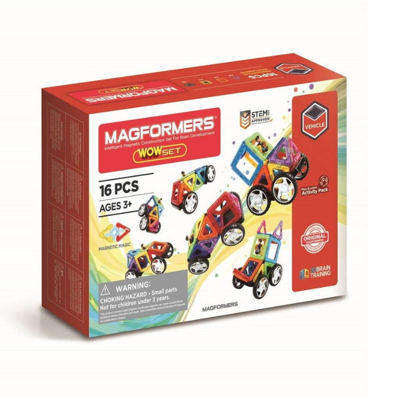 Image of Magformers wow byggesæt, 16 dele (Maki-3012)