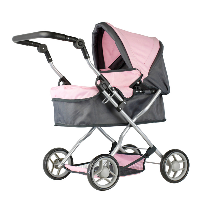 Mini Mommy dukkevogn grå/rosa