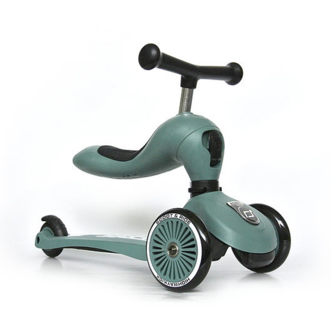 Image of Scoot & Ride 2 i 1 løbecykel/løbehjul, forest (Scoot&ride-96269)