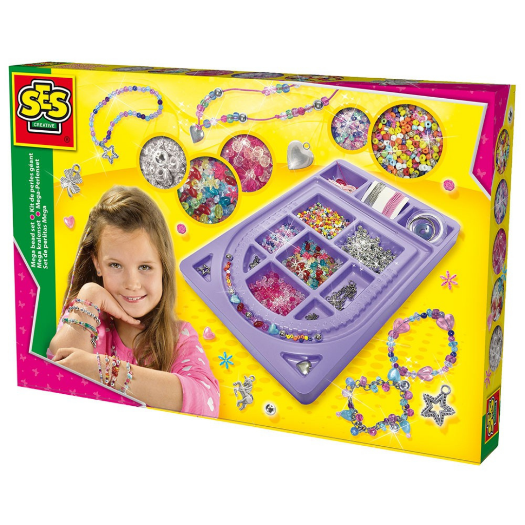 Image of SES CREATIVE Mega perlesæt (Room2play-S14659)