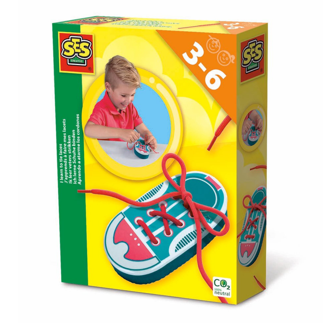 Image of SES CREATIVE Jeg lærer at binde snørebånd (Room2play-s14629)