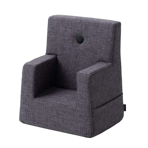 By KlipKlap KK Kids Chair - Blå-grå med grå knapper