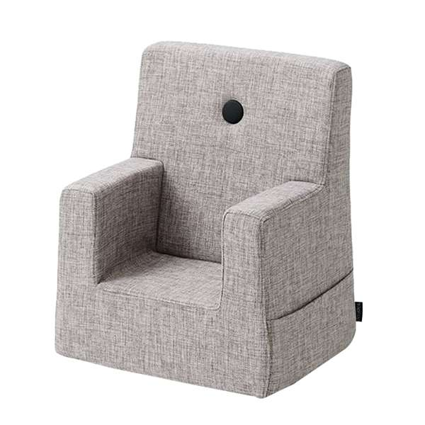 By KlipKlap KK Kids Chair - Multi-grå med grå knapper