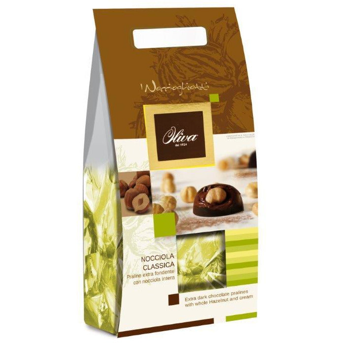 Noccioghiotti Hazelnuts Extra dark chocolate shell - whole hazelnut 200g - Good Food