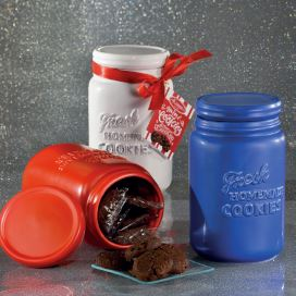 Ceramic Jars with Triple Chocolate Cookies 200g Flamigni