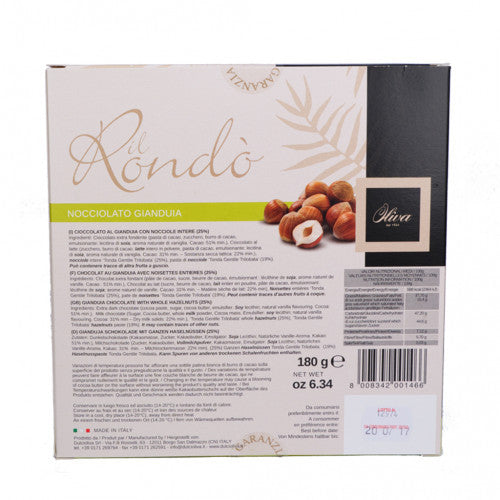 Image for : Rondò Extra Fine Gianduia Chocolate with Whole Hazelnuts 180g