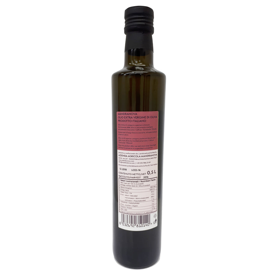 Cerasuola Extravirgin Olive Oil  500ml Mandranova - Good Food