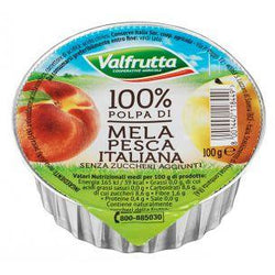 Apple & Peach Fruit Puree 100g - Good Food