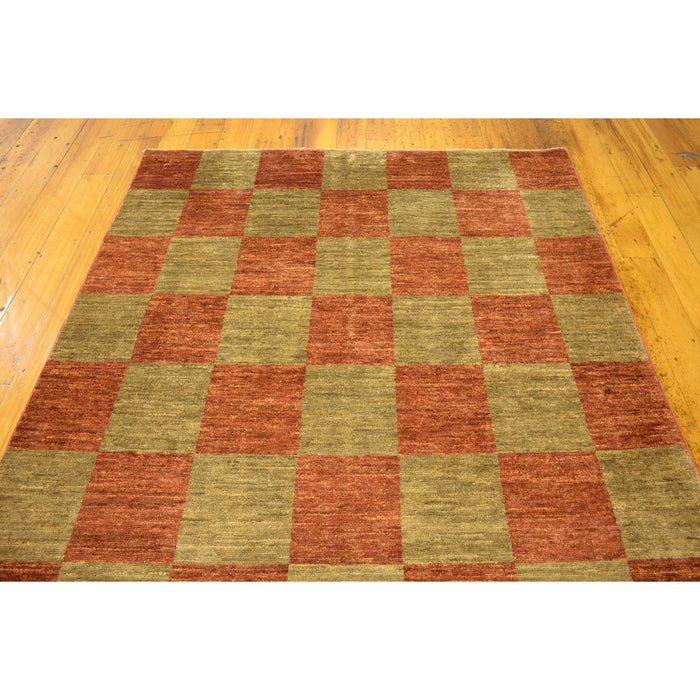 Unique Loom Modern Ziegler 2163656 Rust Red Rug