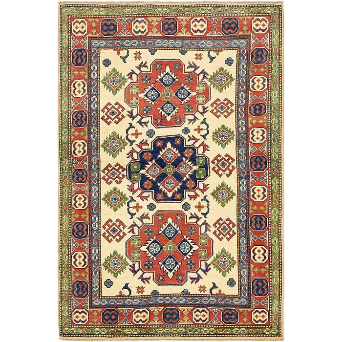 Unique Loom Kazak 2322142 Cream Rug