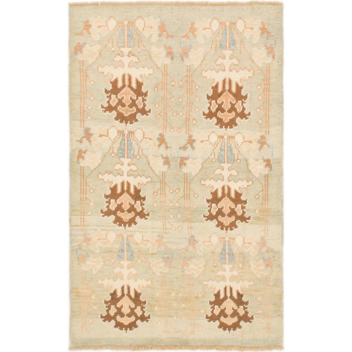Unique Loom Oushak 2404640 Light Green Rug