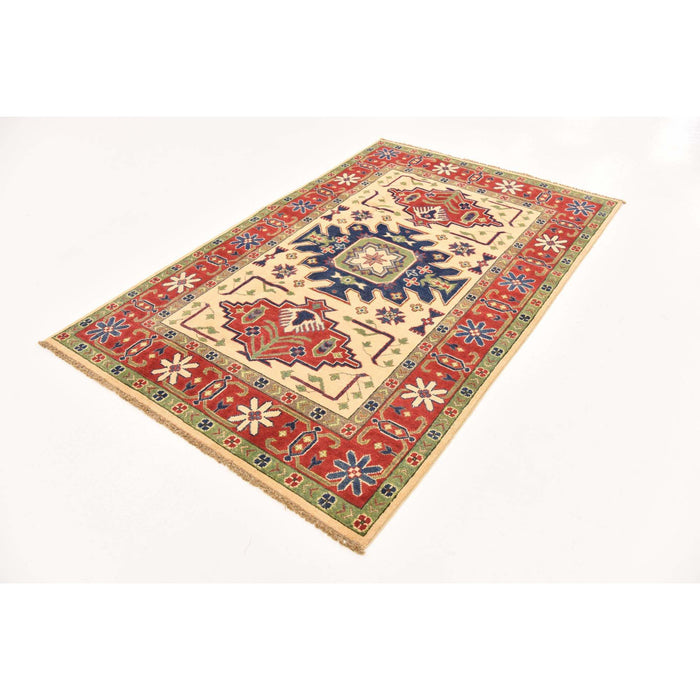 Unique Loom Kazak 2549998 Cream Rug