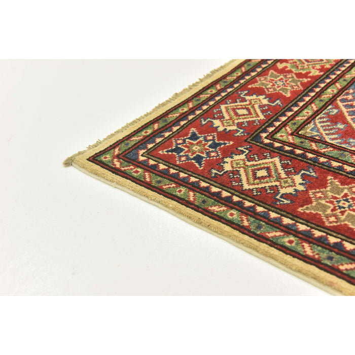 Unique Loom Kazak 2550068 Ivory Rug