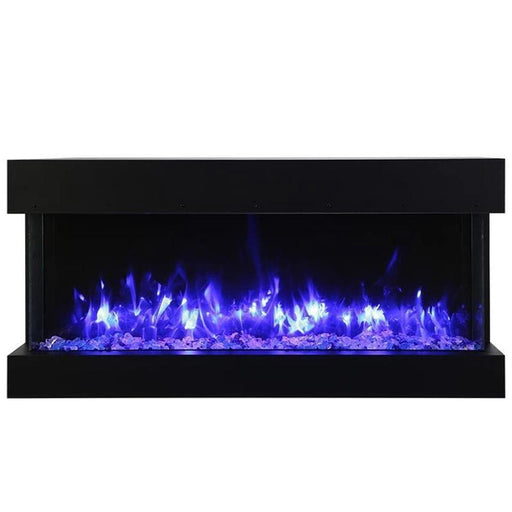 "Amantii Fireplaces Amantii 30-TRV-slim 30"" unit – 10 5/8"" in depth 3 sided glass  Electric fireplace 30-TRV-slim 182849000769"