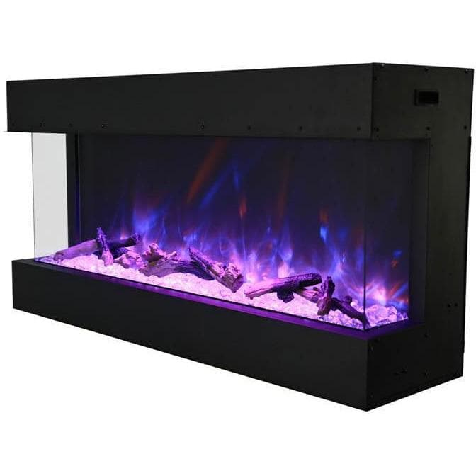 "Amantii Fireplaces Amantii 40-TRU-VIEW-XL 40"" 3 sided glass electric fireplace Built-in only 40-TRU-VIEW-XL 182849000523"