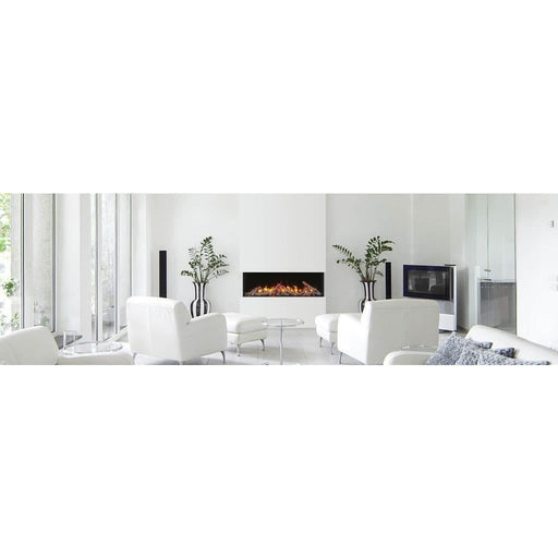 "Amantii Fireplaces Amantii 50-TRV-slim 50"" unit – 10 5/8"" in depth 3 sided glass  Electric fireplace 50-TRV-slim 182849000783"