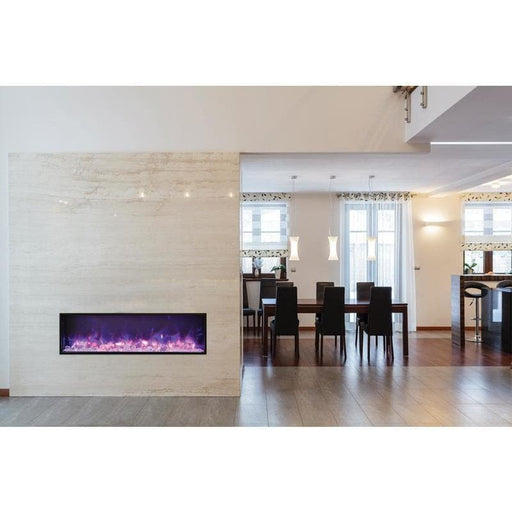 "Amantii Fireplaces Amantii BI-50-SLIM-OD 50"" Electric Fireplace  Slim Built-in only comes with optional black steel surround BI-50-SLIM-OD 182849000677"
