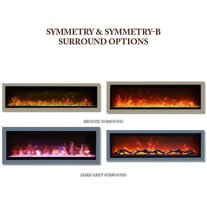 "Amantii Fireplaces Amantii SYM-50-SURR-GREY 50"" Dark Grey Surround SYM-50-SURR-GREY"