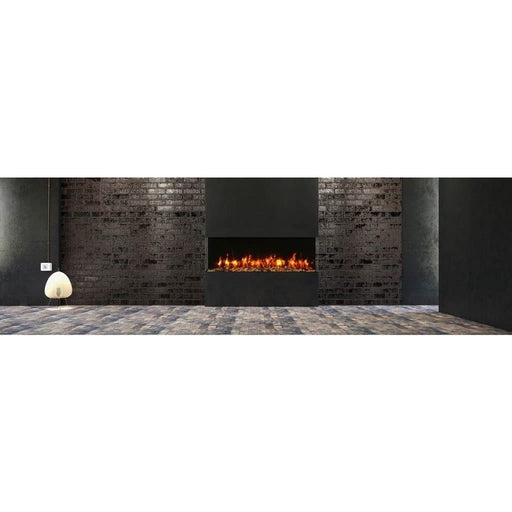 "Amantii Fireplaces Amantii 60-TRV-slim 60"" unit – 10 5/8"" in depth 3 sided glass  Electric fireplace 60-TRV-slim 182849000790"