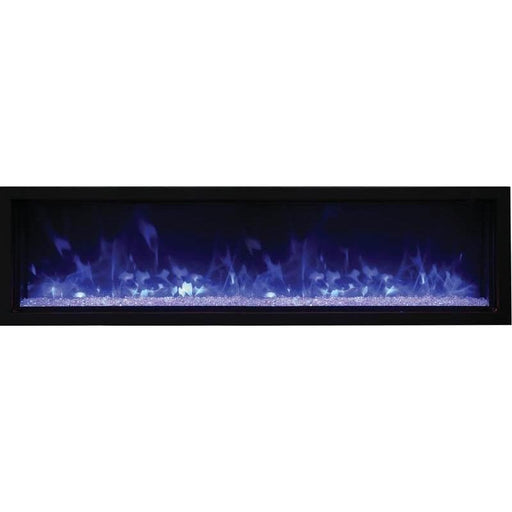 Amantii Fireplaces Amantii BI-60-XTRASLIM 60″ Extra Slim Indoor or Outdoor Electric Built-In only Electric Fireplace with black steel surround BI-60-XTRASLIM 182849000165