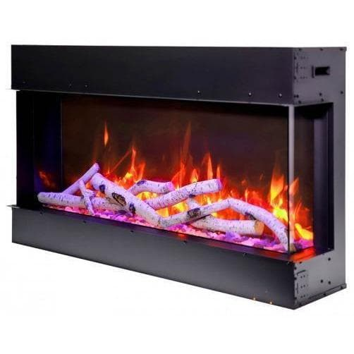 "Amantii Fireplaces Amantii 72-TRV-slim 72"" unit – 10 5/8"" in depth 3 sided glass  Electric fireplace 72-TRV-slim 182849000806"
