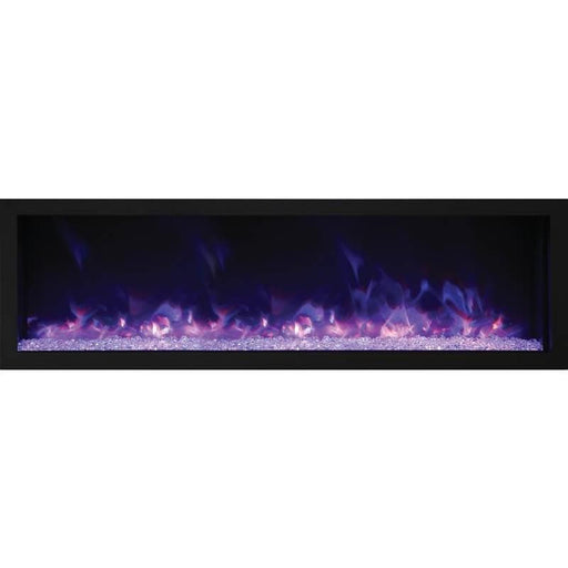 Amantii Fireplaces Amantii BI-72-DEEP-XT 72″ Wide – Deep Indoor or Outdoor Electric Fireplace  Built-in only with Black Steel Surround BI-72-DEEP-XT 182849000479