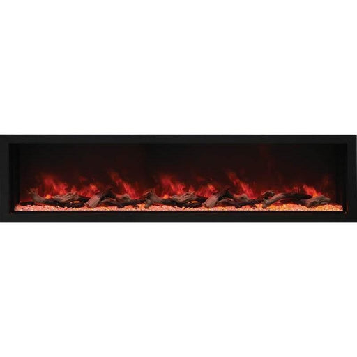 Amantii Fireplaces Amantii BI-88-DEEP-XT 88″ Wide – Deep Indoor or Outdoor Electric Fireplace  Built-in only with Black Steel Surround BI-88-DEEP-XT 182849000486