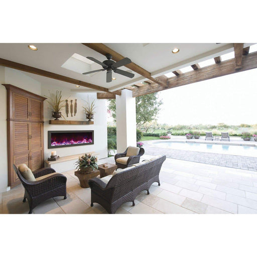 "Amantii Fireplaces Amantii PAN-COV-50 Stainless steel cover for 50"" SLIM or DEEP fireplace - Mandatory for Outdoor Models PAN-COV-50 182849000721"