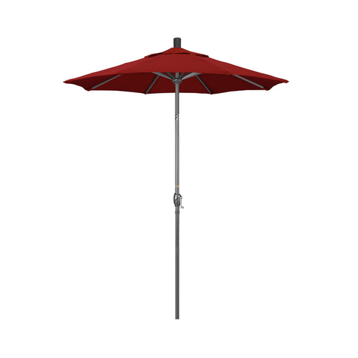 California Umbrella 6' Pacific Trail Series Patio Umbrella With Hammer Tone Grey Aluminum Pole Aluminum Ribs Push Button Tilt Crank Lift With Sunbrella-California Umbrella-Homeflamestore.com