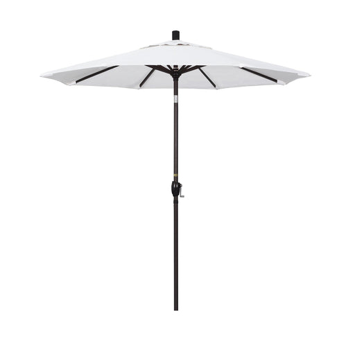 California Umbrella 7.5' Pacific Trail Series Patio Umbrella With Bronze Aluminum Pole Aluminum Ribs Push Button Tilt Crank Lift With Olefin-California Umbrella-Homeflamestore.com