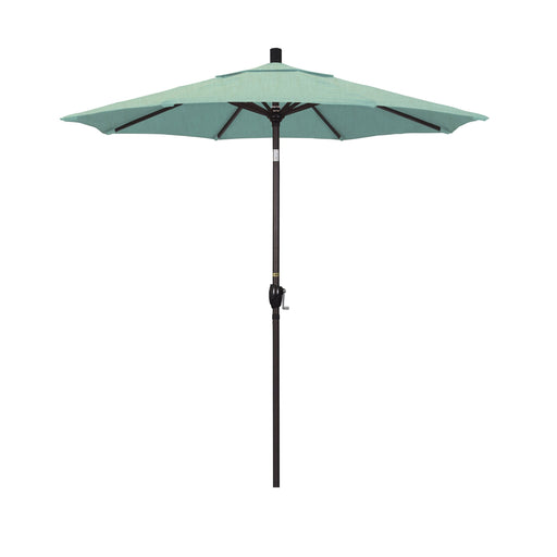 California Umbrella 7.5' Pacific Trail Series Patio Umbrella With Bronze Aluminum Pole Aluminum Ribs Push Button Tilt Crank Lift With Sunbrella-California Umbrella-Homeflamestore.com