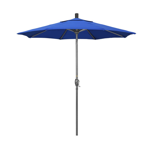 California Umbrella 7.5' Pacific Trail Series Patio Umbrella With Hammer Tone Aluminum Pole Aluminum Ribs Push Button Tilt Crank Lift With Olefin-California Umbrella-Homeflamestore.com