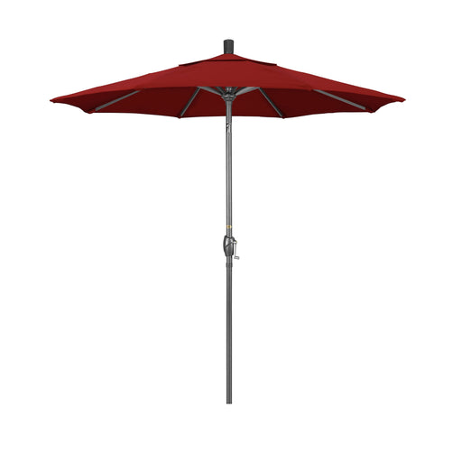 California Umbrella 7.5' Pacific Trail Series Patio Umbrella With Hammer Tone Aluminum Pole Aluminum Ribs Push Button Tilt Crank Lift With Pacifica-California Umbrella-Homeflamestore.com