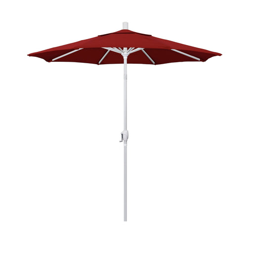 California Umbrella 7.5' Pacific Trail Series Patio Umbrella With Matted White Aluminum Pole Aluminum Ribs Push Button Tilt Crank Lift With Pacifica-California Umbrella-Homeflamestore.com