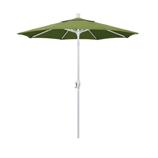 California Umbrella 7.5' Pacific Trail Series Patio Umbrella With Matted White Aluminum Pole Aluminum Ribs Push Button Tilt Crank Lift With Sunbrella 1A-California Umbrella-Homeflamestore.com