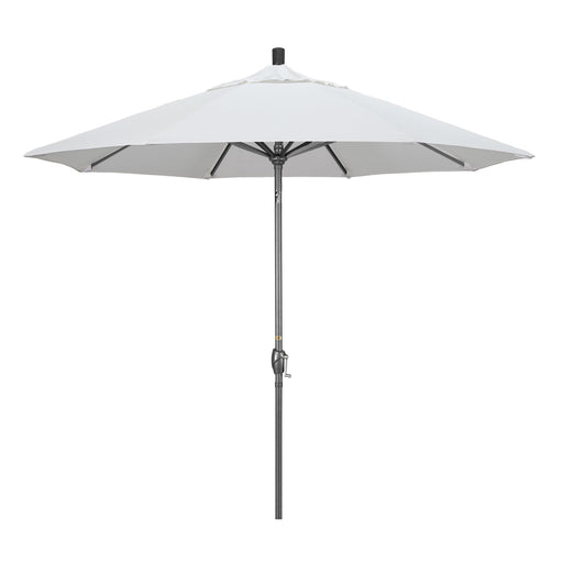 California Umbrella 9' Pacific Trail Series Patio Umbrella With Hammer Tone Aluminum Pole Aluminum Ribs Push Button Tilt Crank Lift With Olefin-California Umbrella-Homeflamestore.com