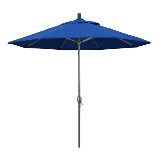 California Umbrella 9' Pacific Trail Series Patio Umbrella With Hammer Tone Aluminum Pole Aluminum Ribs Push Button Tilt Crank Lift With Pacifica-California Umbrella-Homeflamestore.com
