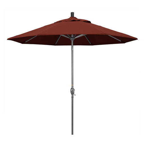 California Umbrella 9' Pacific Trail Series Patio Umbrella With Hammer Tone Aluminum Pole Aluminum Ribs Push Button Tilt Crank Lift With Sunbrella-California Umbrella-Homeflamestore.com