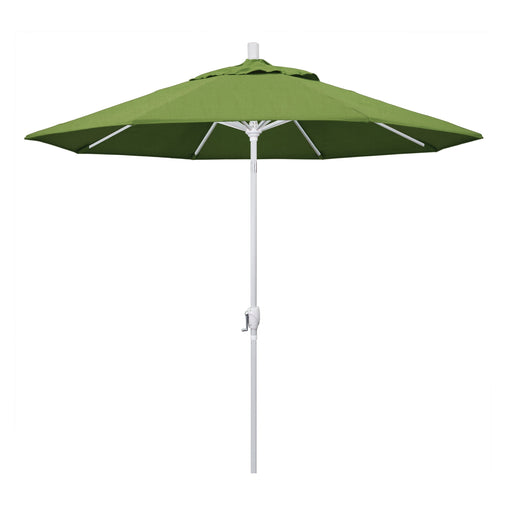 California Umbrella 9' Pacific Trail Series Patio Umbrella With Matted White Aluminum Pole Aluminum Ribs Push Button Tilt Crank Lift With Sunbrella-California Umbrella-Homeflamestore.com