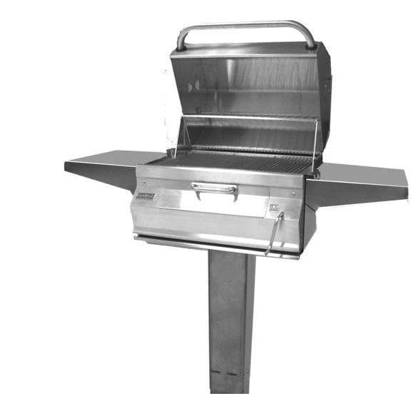Fire Magic Legacy 22-Inch Smoker Charcoal BBQ Grill On Patio Post Z368214-Fire Magic-Homeflamestore.com