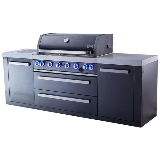 Mont Alpi 805 Black Stainless Steel Grill Island-Mont Alpi-Homeflamestore.com