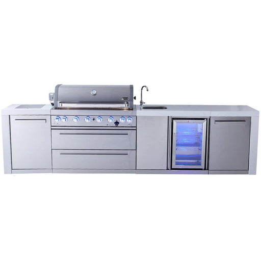 Mont Alpi 805 Deluxe Grill Island With Beverage Center-Mont Alpi-Homeflamestore.com