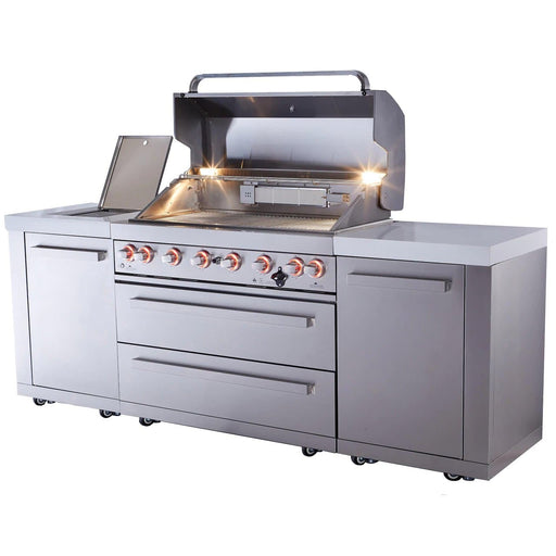 Mont Alpi 805 Island Stainless Steel Gas Grill-Mont Alpi-Homeflamestore.com