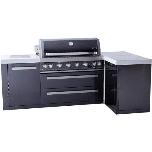 Mont Alpi Black Stainless Steel Grill Island with 90 Degree Corner-Mont Alpi-Homeflamestore.com