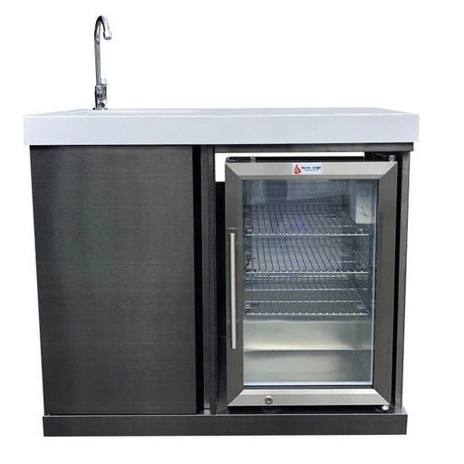 Mont Alpi Sink And Fridge Unit Black Stainless Steel-Mont Alpi-Homeflamestore.com