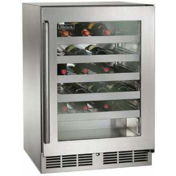 "Perlick 24"" Signature Series Outdoor Wine Reserve Fully Integrated Glass Door, Hinge Right HP24WO-3-4R-Perlick-Homeflamestore.com"