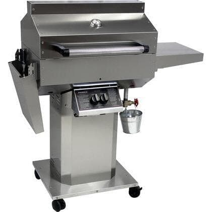 Phoenix Riveted Stainless Steel Grill on 3 Piece Column & Base - Natural Gas SDRIVDD-N-Phoenix-Homeflamestore.com