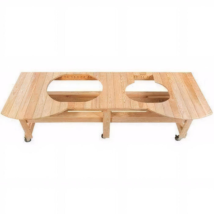 "Primo Cypress All Event Table for 2 Grills 91 1/2 x 31 1/2 x 32"" PRM604, PG00604"